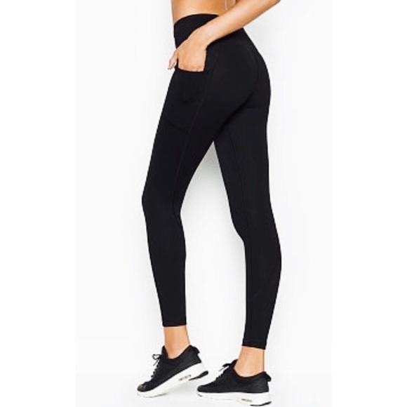 bde5cad02d4ee Victoria's Secret Pants | Victorias Secret Sport Black Legging Tight ...